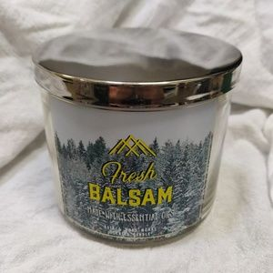 Bath and Body Works Fresh Balsam 3 Wick Candle